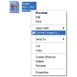 Image of Right click menu on a image